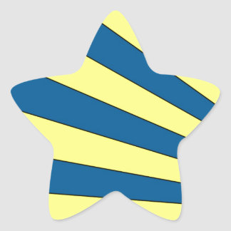 Blue Yellow Anlge Design Star Sticker