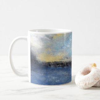 Blue Yellow Beach Abstract Mug
