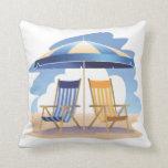 Blue & Yellow Beach Chairs & Umbrella