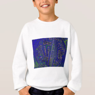 blue yellow blue man hole cover sweatshirt