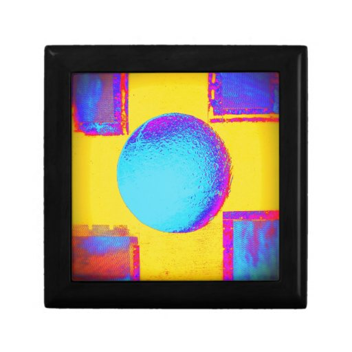 Blue Yellow Bold Bright Neon Colorful Jewelry Boxes