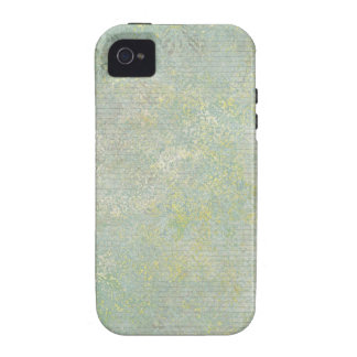 Blue Yellow Brush Design Background Vibe iPhone 4 Case