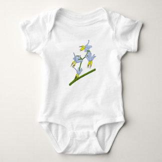 Blue Yellow Bush Flower Baby Bodysuit