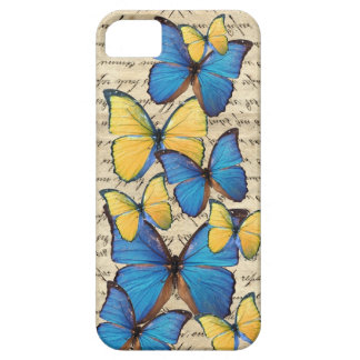 Blue & yellow butterrflies barely there iPhone 5 case