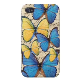Blue & yellow butterrflies iPhone 4 cover