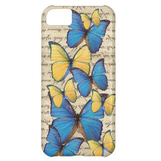 Blue & yellow butterrflies iPhone 5C case