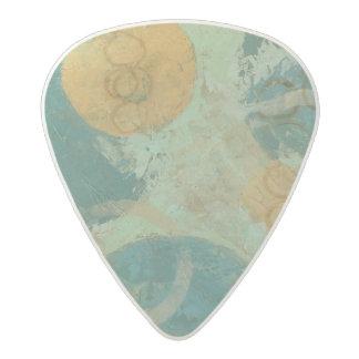 Blue & Yellow Circles Acetal Guitar Pick