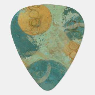Blue & Yellow Circles Guitar Pick