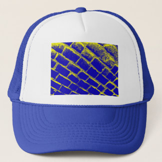 Blue Yellow Cobbles Reversed Trucker Hat