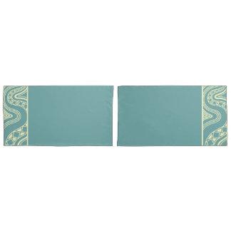 Blue & Yellow Decor Collection-Pillow Cases Duvet