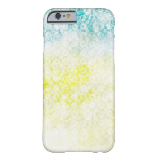 Blue & Yellow Faded Grunge Barely There iPhone 6 Case