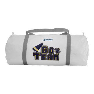 Blue & Yellow Go Team Cheerleader Duffel Bag Gym Duffel Bag