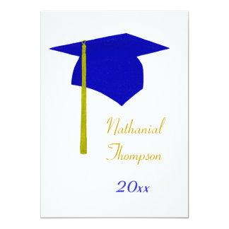 Blue & Yellow Graduation Cap & Tassel Invitations