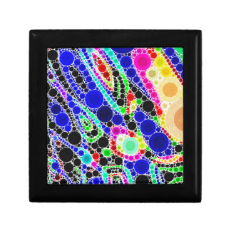 Blue Yellow Green Abstract Small Square Gift Box