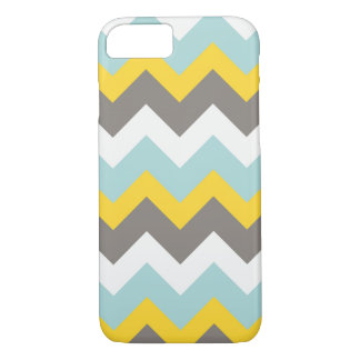 Blue, Yellow, Grey, White Chevron Phone Case