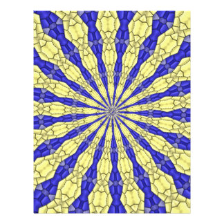 Blue Yellow line from the middle pattern Personalized Flyer