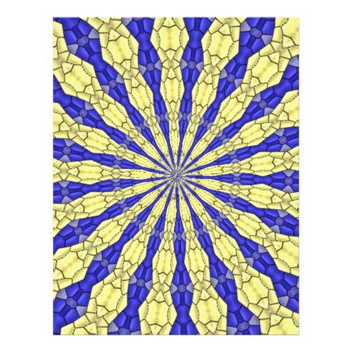 Blue & Yellow line from the middle pattern Personalized Flyer