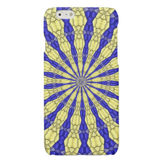 Blue & Yellow line from the middle pattern iPhone 6 Plus Case