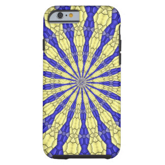 Blue & Yellow line from the middle pattern Tough iPhone 6 Case