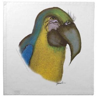 blue yellow macaw, tony fernandes napkin