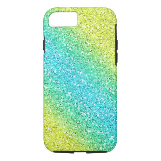 Blue & Yellow Sparkly Bits iPhone 7 Case