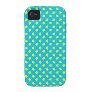 Blue yellow stars iPhone 4/4S cases