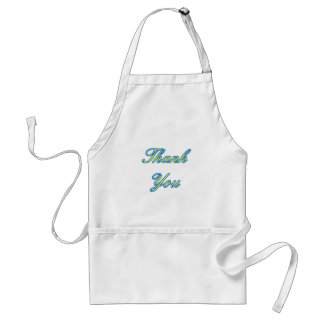Blue Yellow Thank You Design The MUSEUM Zazzle Gif Adult Apron