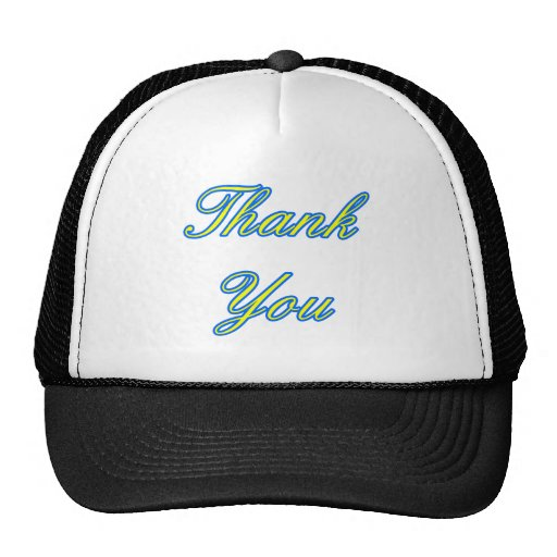Blue Yellow Thank You Design The MUSEUM Zazzle Gif Trucker Hats