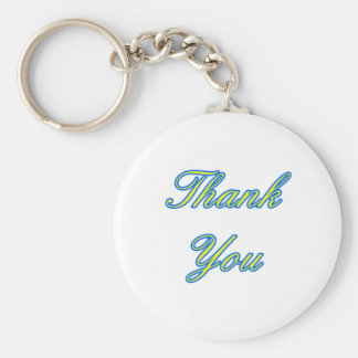 Blue Yellow Thank You Design The MUSEUM Zazzle Gif Key Chain