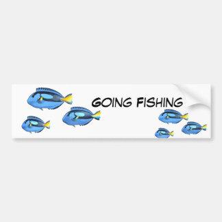 Blue & Yellow Tropical Fish Bumper Sticker