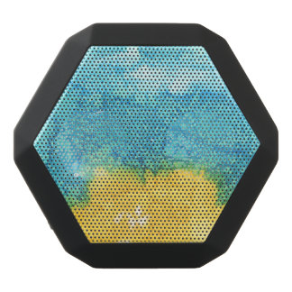 Blue/Yellow Watercolor Black Bluetooth Speaker