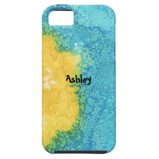 Blue/Yellow Watercolor iPhone 5 Covers