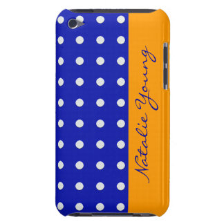 blue yellow white dots personalized iPod touch cases