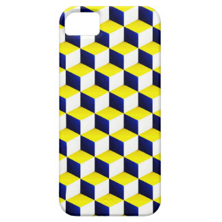 Blue, Yellow, White Shaded 3D Look Cubes Case For The iPhone 5