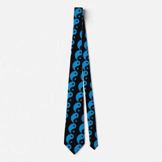 Blue Yin Yang Taoist Symbol Tie