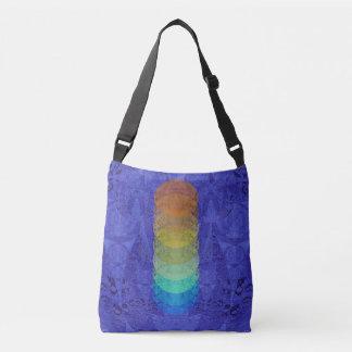 Blue Yoga Chakra Colorful Love Tote Bag