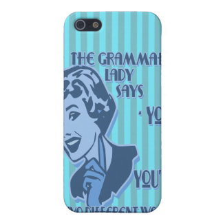 Blue Your and You're iPhone Speck Case Case For iPhone 5/5S