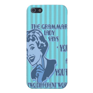Blue Your and You're iPhone Speck Case iPhone 5/5S Case