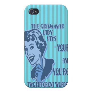 Blue Your and You're iPhone Speck Case iPhone 4 Cover