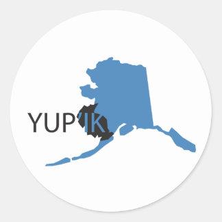 Blue Yupik Classic Round Sticker