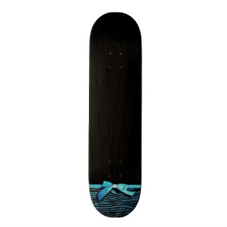 Blue Zebra and ribbon bow graphic Skate Boards