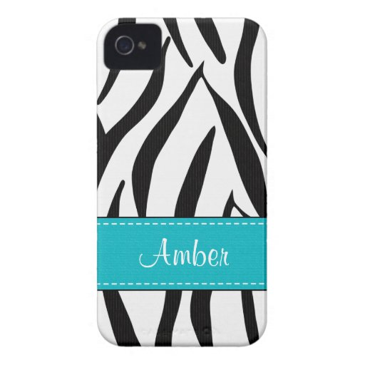 Blue Zebra Blackberry Bold Case Cover
