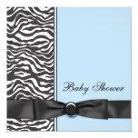 Blue Zebra Boy Baby Shower