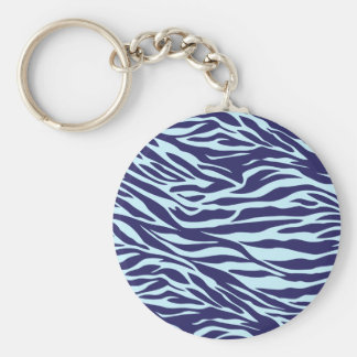 blue zebra key ring