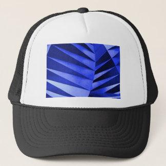 blue zebra leaves trucker hat