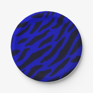 Blue Zebra Paper Plates