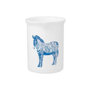 Blue zebra pitcher
