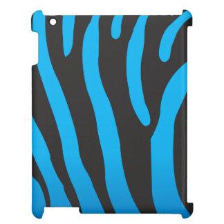 Blue Zebra Print iPad Case