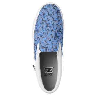 Blue Zebra Slip On Shoes Printed Shoes