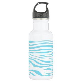 Blue Zebra stripe pattern 532 Ml Water Bottle